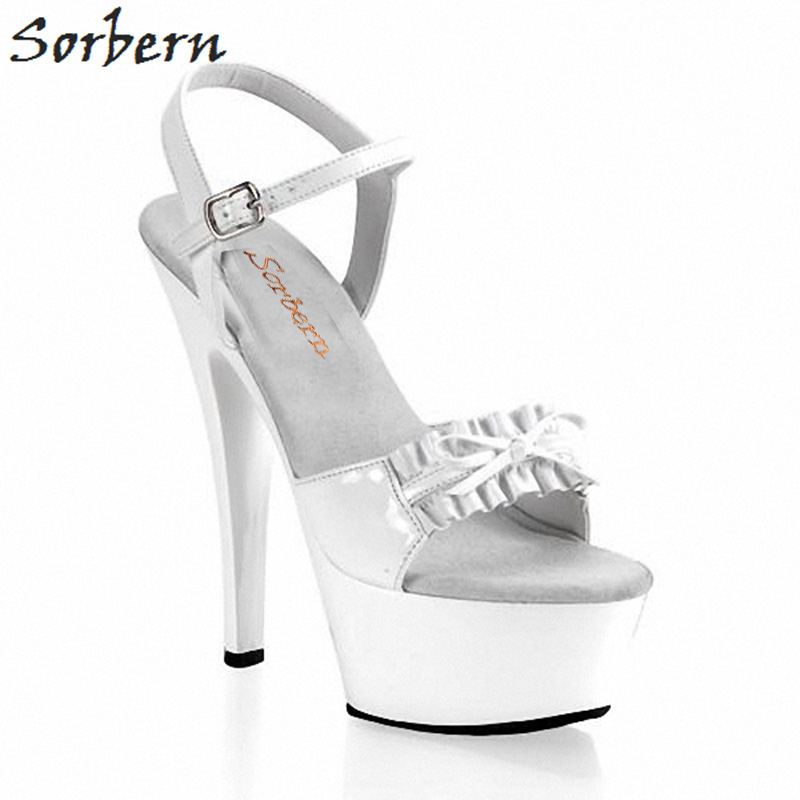 Sorbern Spike Heels Platform Sandals Ladies Open Toe Shoes Butterfly Knot Sandals Fashion For Woman Shoes Size 10 Custom ColorSorbern Spike Heels Platform Sandals Ladies Open Toe Shoes Butterfly Knot Sandals Fashion For Woman Shoes Size 10 Custom Color