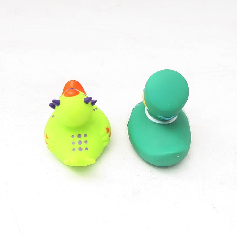 2pcs Cute Bath Bathing Classic Toys Rubber Race Yellow Duck Floating Duck Swimming Duck