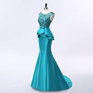 Image 3 - FADISTEE חדש הגעה אלגנטי ארוך שמלת ערב שמלות המפלגה vestido דה noiva פורמליות אפליקציות קריסטל ארוך סגנון