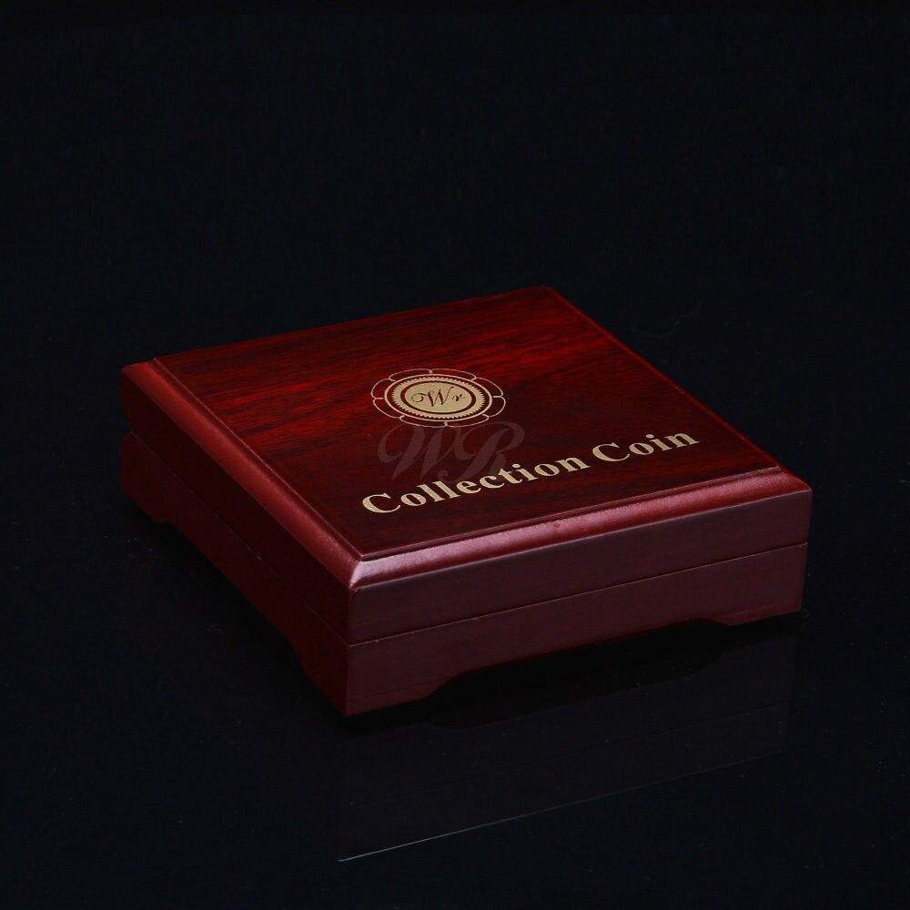 WR держатель без монеты иностранных валют качественная черная коробка для монет позолоченные реплики аксессуары для монет Рождественский п...