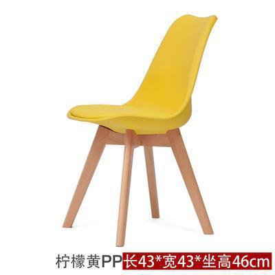 Простой современный домашний стул для столовой задний офисный стул креативный твердый деревянный Северный стул - Цвет: 12