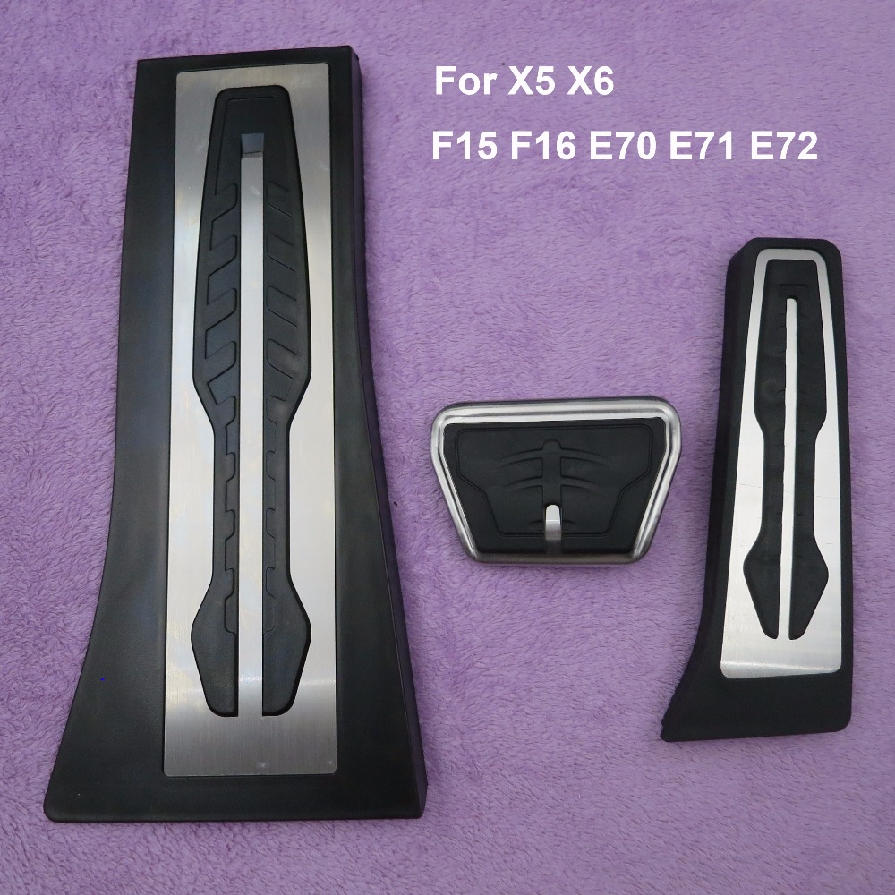 DEE Non-Drilling !Gas Fuel Brake Footrest Pedal Plate Pad AT For BMW X5 X6 F15 F16 E70 E71 E72 Pedals Pad Car Accessories LHD! стоимость
