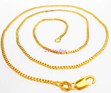 Free shipping 24inhces 1PCS Making Jewelry GOLD Filled GOLD FILLED Box Chain Necklaces Pendants