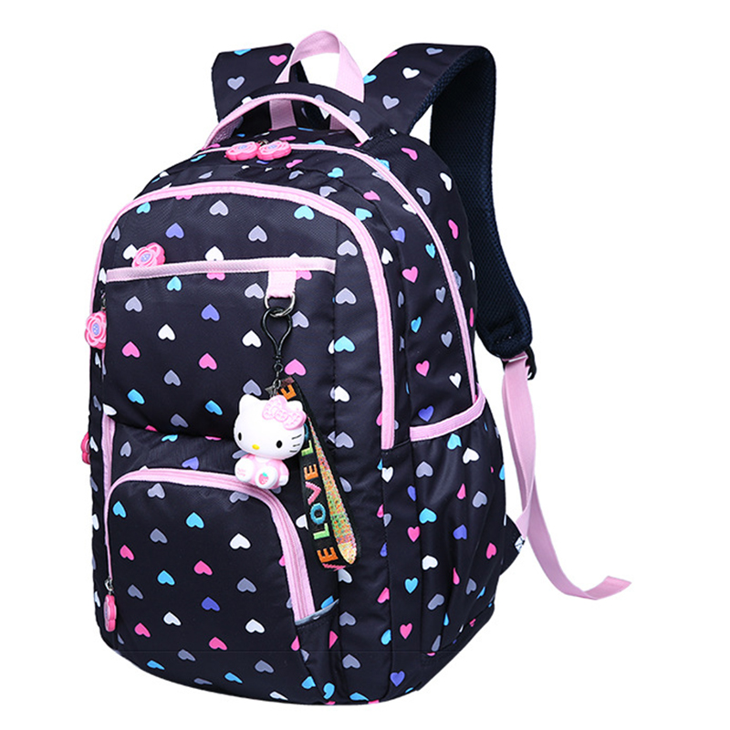 Высокое качество старший школьный рюкзак Цветочный принт для девочек школьная сумка Детский рюкзак на молнии Рюкзаки подросток школьные с...