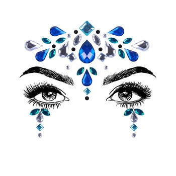 1Sheet Face Jewels Rhinestones Adhesive Crystal Face Gems Beauty Body Glitter Tattoo Art Eyebrow Face Body Jewelry 1
