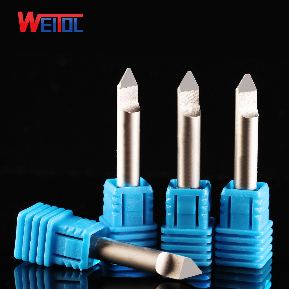 Weitol free shipping A 1pc 6mm diamond engraving bits PCD CNC router bits for marble, granite, bluestone stone router bit weitol 5a 1 pc  3 175 4 6mm tungsten