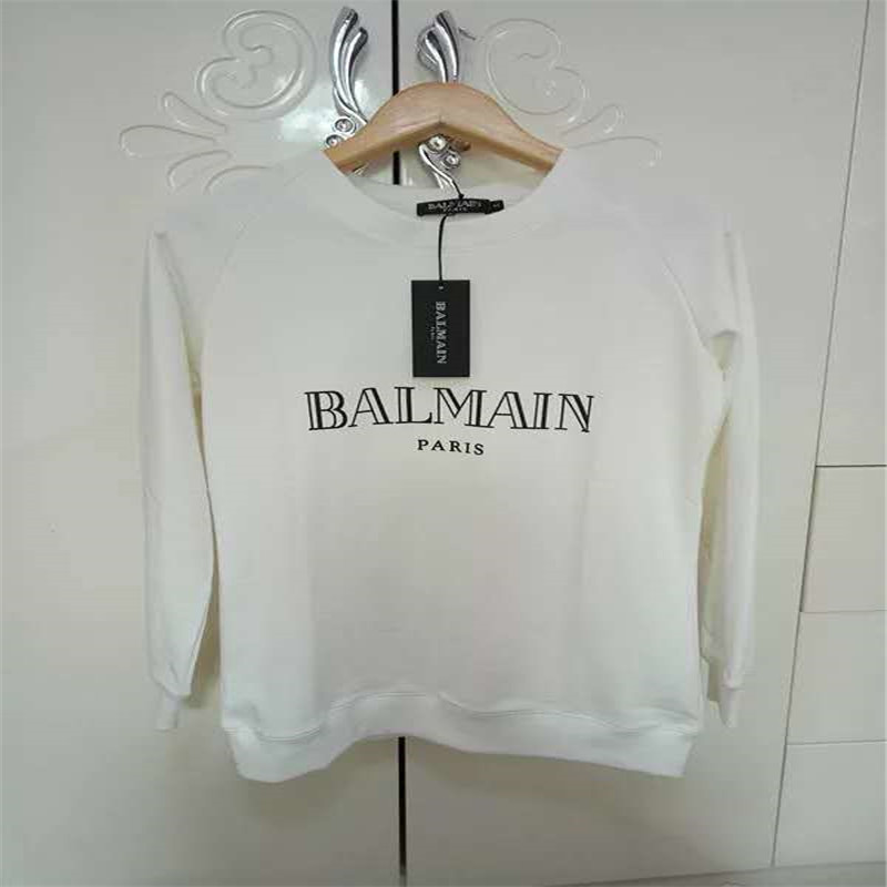 2019 Spring, autumn and winter, men and women in BALMAIN hoodies balmain Paris will be wearing the bachmann casual sports jumper(China)