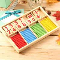 Heißer! 1PC Intelligenz Große Spielzeug Montessori Mathematik Holz Material Farbe Berechnung Frühen Bildung Aufklärung Spielzeug Neue Verkauf