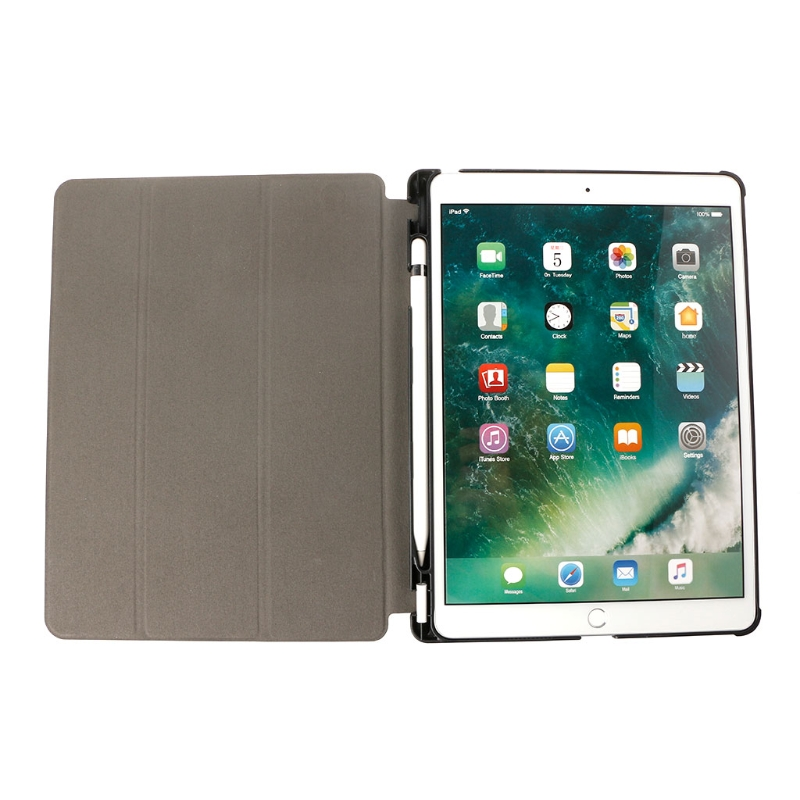 Faux Leather Flip Folio Case Cover with Pencil Holder For Apple ipad Pro 10.5 inch