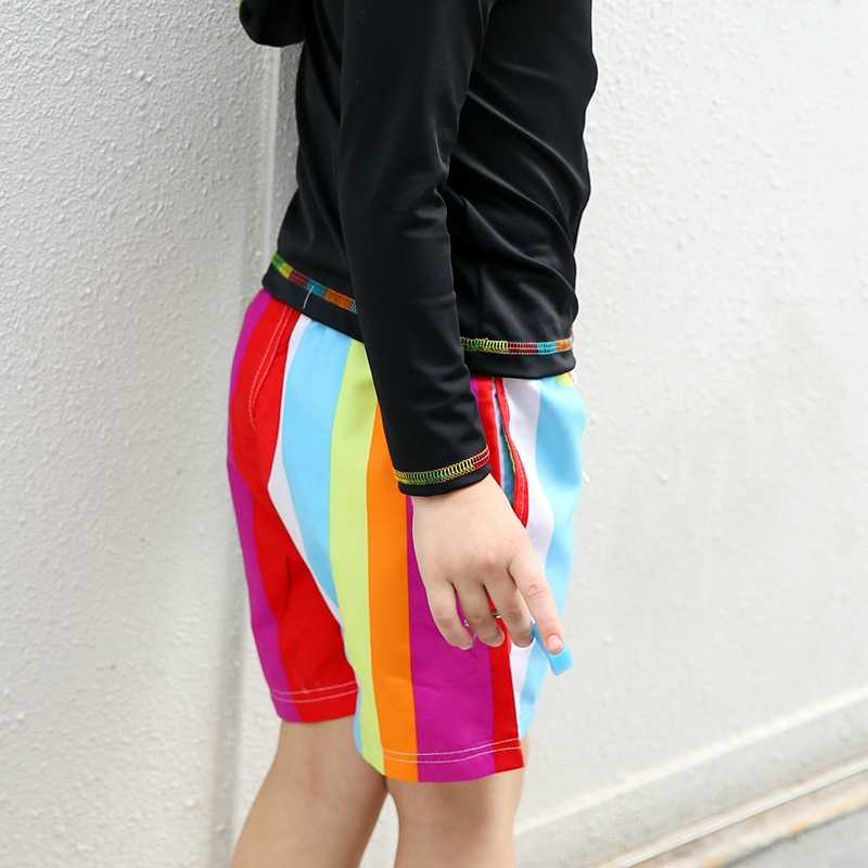 2017 г. Новый дизайн, разноцветные пиратские шорты для мальчиков пляжные шорты в полоску для мальчиков, защита от солнца UPF50 + 100 до 140 см