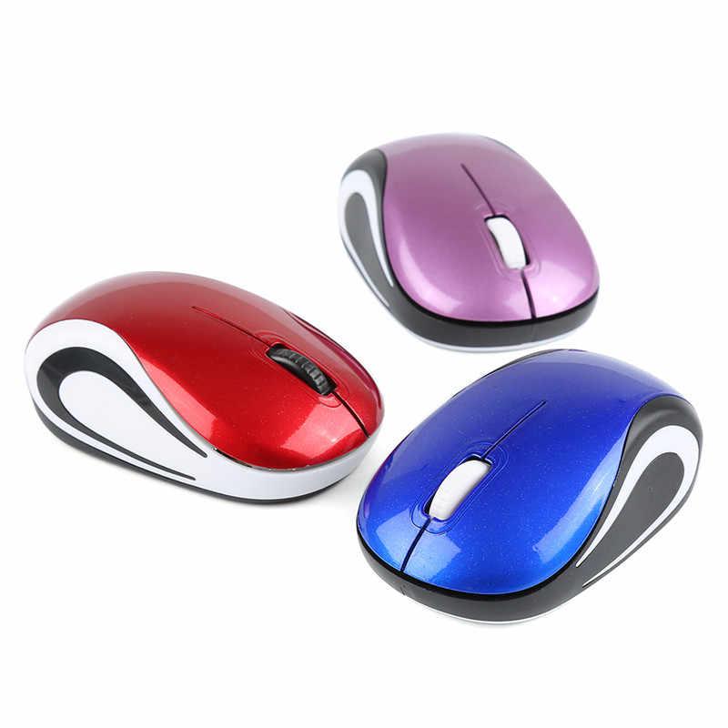 Groothandel 2.4G Draadloze Gaming Muis Slient 3 Knop Computer Muis 2000DPI Gaming Muizen Optische Kleurrijke Muis Gamer Voor laptop