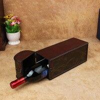 Antik vintage şarap yaratıcı hediye kutuları ahşap kutu fabrika toptan Kırmızı şarap şarap kutusu şarap ahşap boximitation sekoya