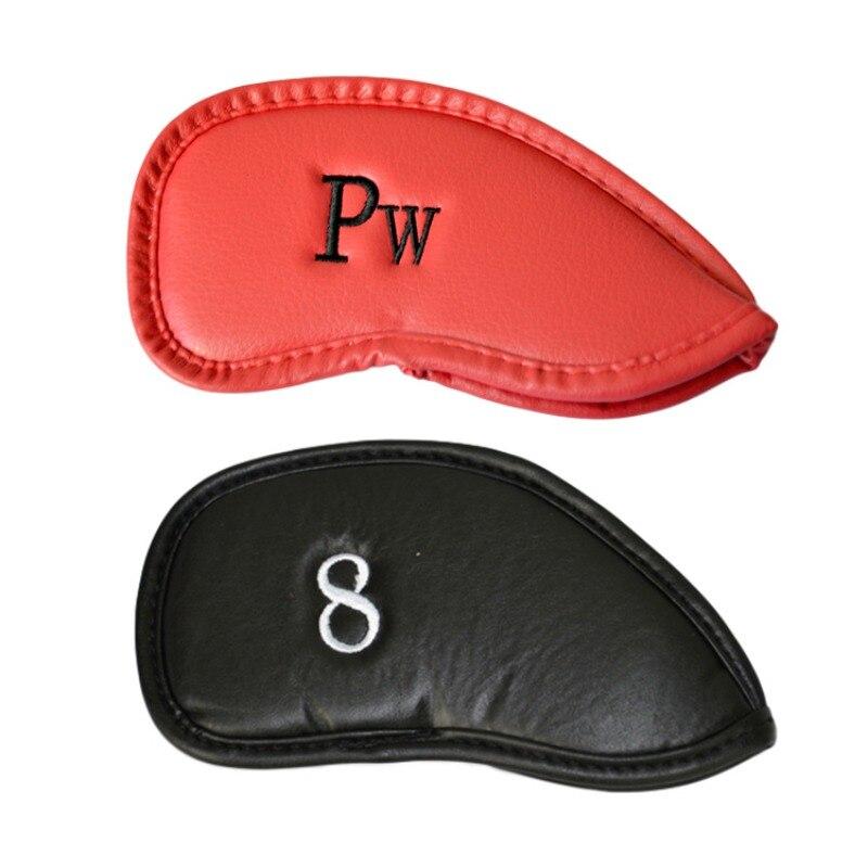 Accesorios de golf deportes al aire libre 12 unids de cuero artificial negro clu