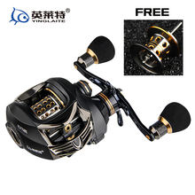 2017 new full metal Body Baitcasting reeel lure reel two brake low profile casting 13+1BB left/right Handle