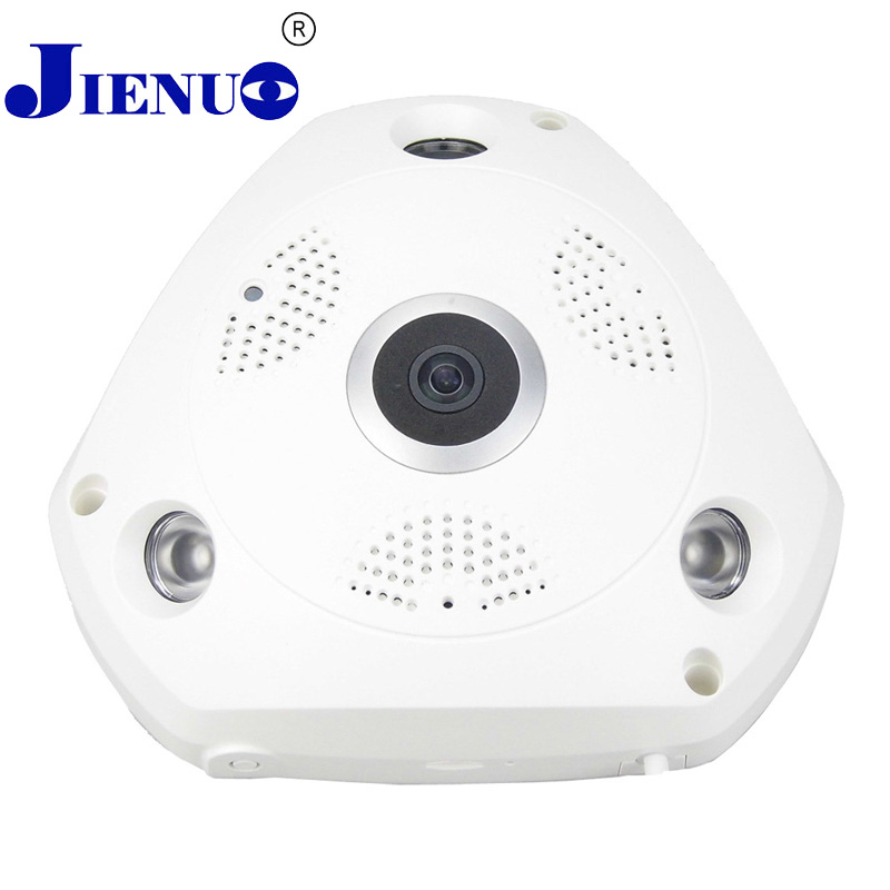 WIFI IP Camera 360 Fisheye Panoramic Dome Camera 1.0MP 720P ONVIF CCTV Night Vision Video home Surveillance Security P2P H.264 audio pick up cctv microphone wide range camera mic audio mini microphone for cctv security dvr