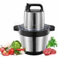 6L Multi function Meat Grinder Commercial Electric Garlic Mincer Food Grade Stainless Steel Large Capacity