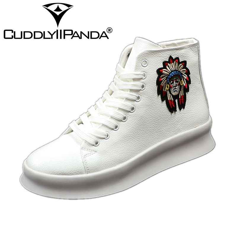 331d0ad59 CUDDLYIIPANDA New Fashion High Top Casual Shoes for Men Spring Autumn Rivets  Breathable Oxfords Zip Sneakers