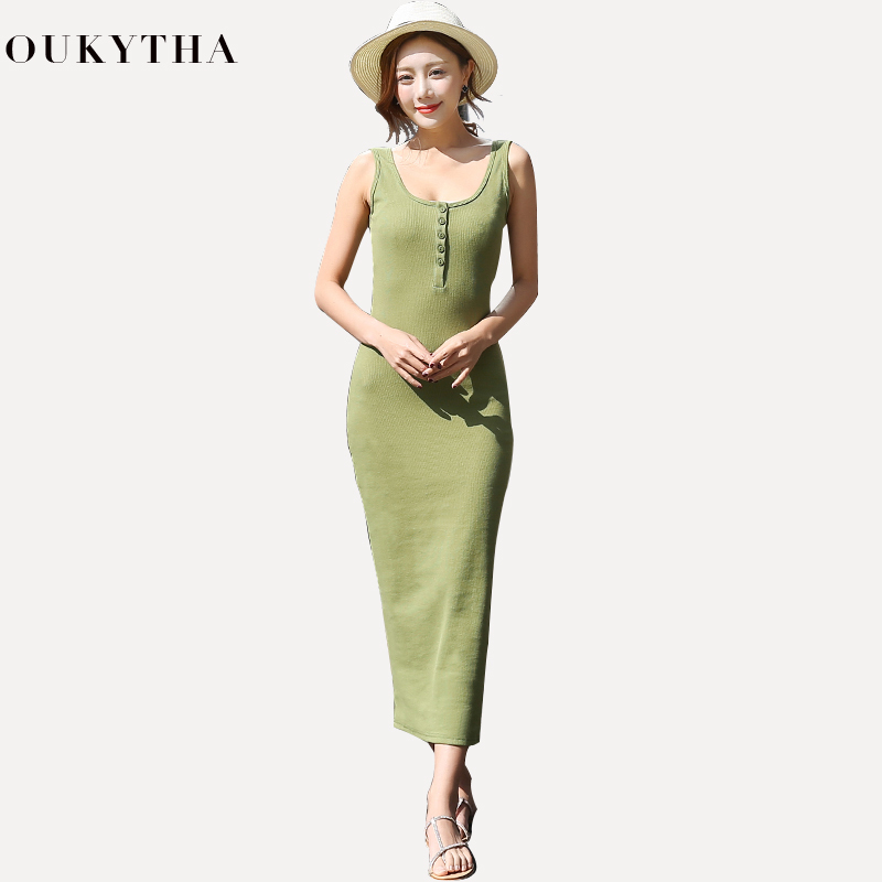 Long Dress Camisole Woman Summer Autumn Slim Outer Base Clothes Within Build Code Rendering Elegant dress Beach Vest Dresses