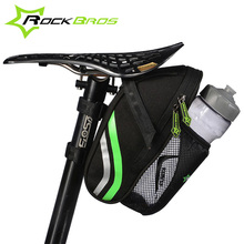 RockBros Bicycle Bags Front Folding Bike Seatpost Saddle Bicycle Tail Rear Bottle Bags Mountain Road Cycling Portable Seat Pouch