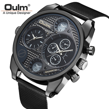 Strip Dual Movement Quartz Wrist Watch with Small Dials Luxury Timepiece