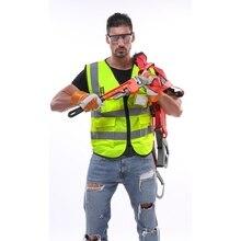 Светоотражающий жилет ночная Предупреждение одежда с флуоресцентным покрытием для строительства инженерных трафика защитные шестерни