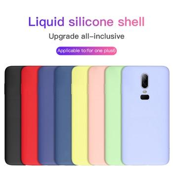 Liquido lusso Cassa Del Telefono Del Silicone Per Oneplus 7 7Pro 6 6 T 5 5 T Originale Coperchio di Protezione Morbida Come la Seta per Un più di 6 T Coque Funda