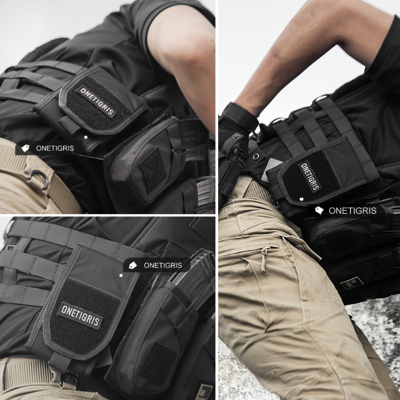 OneTigris MOLLE Tactical Hunting Waist Bag Smartphone Holder Pouch for iPhone6s SE iPhone6 Plus 8Plus iPhone X