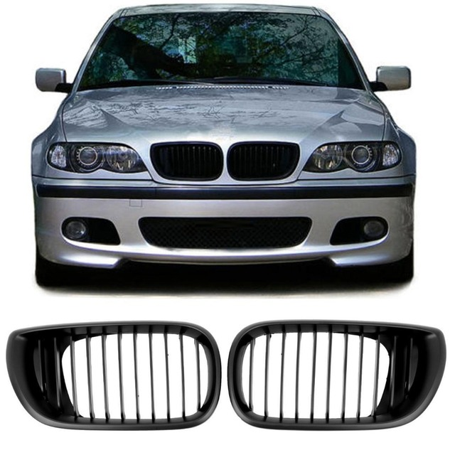 Shipping From Eu Black Kidney Grills Front Car Grille For Bmw E46