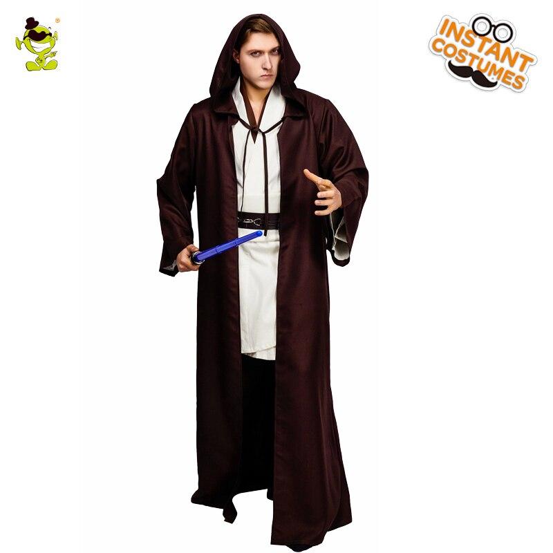 Halloween Hommes de Jedi Knight Costume Cosplay Film Chaud Chevalier Vêtements Rôle Jouer Fantaisie Robe Jedi chevalier Halloween Costumes