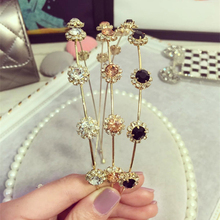 Fashion Women Elegant Chic Bling Crystal Rhinestones Headband Metal Hairbands