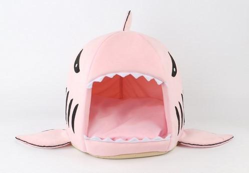 2017 Nouveau 2 Taille Requin Chien Chenil Pet Produits Doux et Chaud chien Maison Pet Sac De Couchage Chat Lit Chat Maison Livraison Gratuite