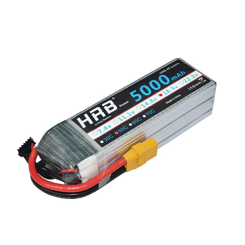 HRB akumulator do RC Lipo 18.5V 5000mAh 50C Max 100C 5S do helikoptera Quadcopter samolot Drone FPV LOGO 500 w Części i akcesoria od Zabawki i hobby na  Grupa 1
