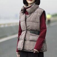 Fashion brand sleeveless 90% white duck down vest coat women's winter thicker duck down jacket warm down jacket w610 dropship