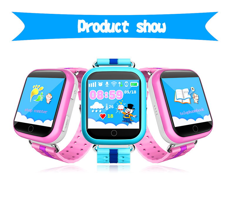 Smart Q750 GPS Kid Safe Smart Watch SOS Call Location Finder Locator Tracker For Children Anti