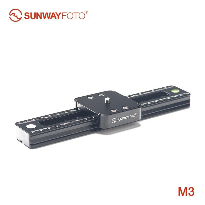 SUNWAYFOTO M3 caméra dslr mini curseur téléphone pour vidéo rail curseurs visiophone voyage dslr caméra curseur