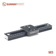 SUNWAYFOTO M3 câmera dslr mini telefone deslizante para vídeo sliders ferroviário visiophone viajar câmera dslr timelapse deslizante ballhead