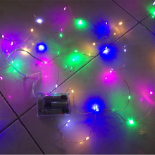 10M 100 LED 3 AA Battery Powered Decorative Silver String Lights