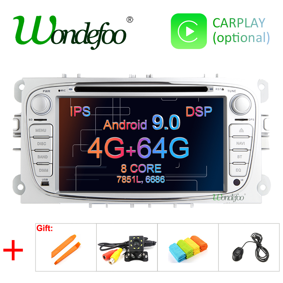 Android 9 0 DSP IPS 4G RAM 64G ROM 2 din Car DVD GPS for FORD