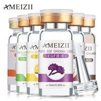 AMEIZII 6pcs Pure Snail Extract Anti Aging Skin Care Vitamin C Collagen Whitening Original Liquid Moisturizing