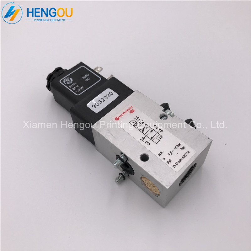 1 Piece Heidelberg SM102 CD102 Solenoid Valve 61.184.1051 24V 1.8W 2625484 Heidelberg Offset Printing Machine Parts