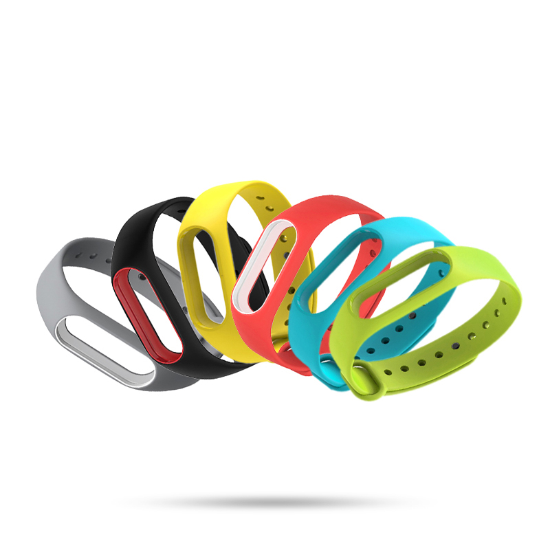 Watch Accessories Beautiful Sportimes Double Color Silicone Strap For Xiaomi Mi Band 2 Smart Wristband Watch Strap Miband2 Miband 2 Strap For Xiaomi Mi Band