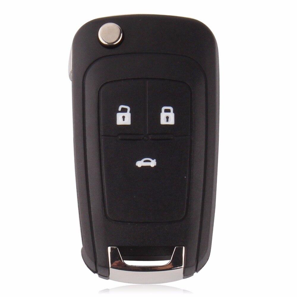 KEYYOU 10PCS/LOT Flip Folding Key Shell For Chevrolet Cruze Remote Key Case Keyless Fob 3 Button Uncut HU100 Blade free shipping 2 button flip remote key case for hyundai verna 10pcs lot