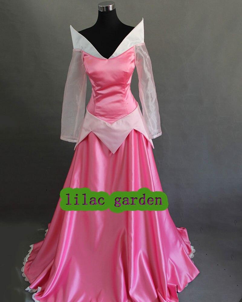 Бесплатная доставка спящие нарядные платья Аврора платье принцессы на Хэллоуин вечерние платья Косплей Костюм на заказ