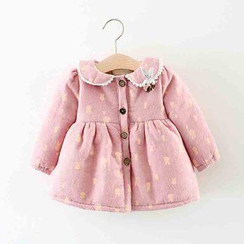 cd0bbca6f0cf Бибикола новорожденный зимняя куртка для девочек Детские с модным принтом  ...