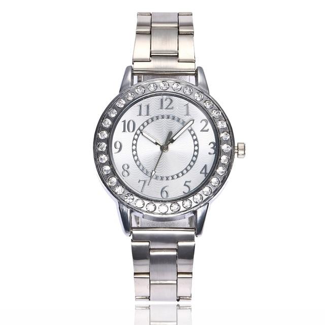 Watches Women Luxury Diamond Stainless Steel Bracelet Watch Ladies Dress Clock B