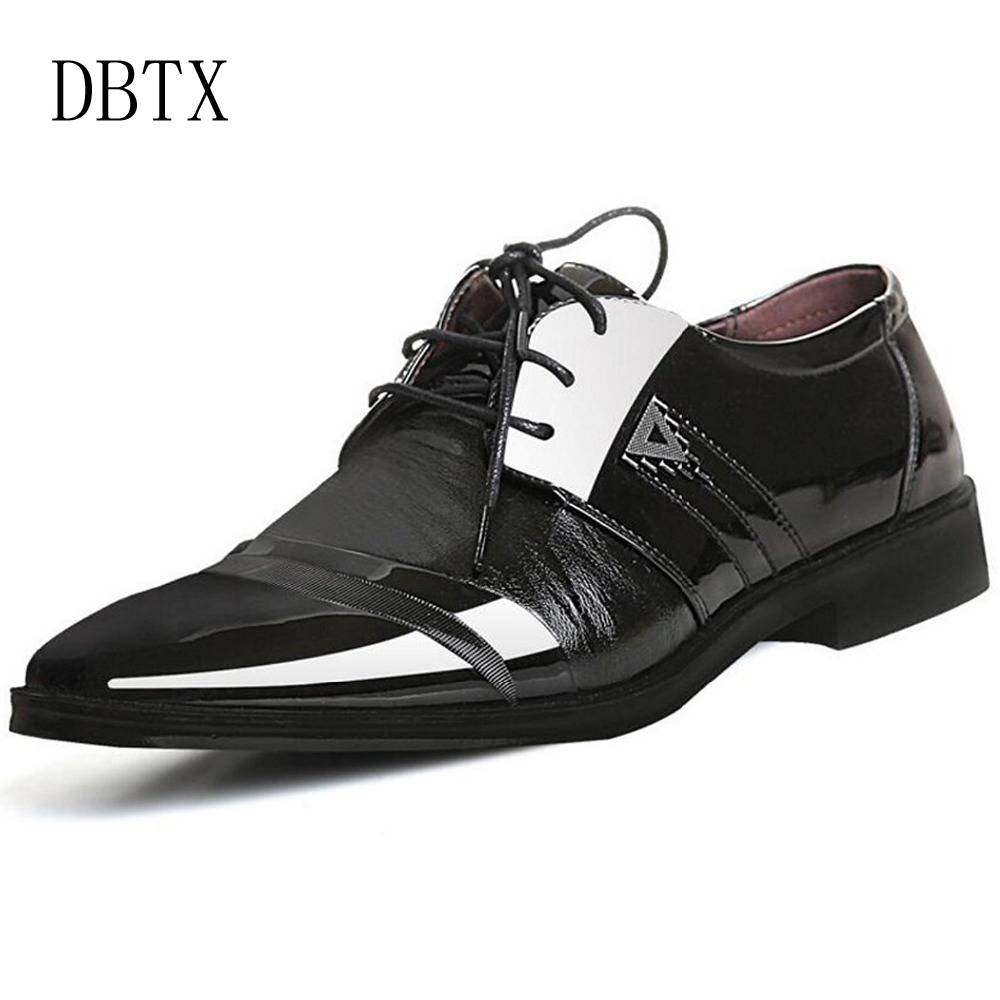 Size 47 48 Fashion Pu Leather Men Dress Shoes Pointed Bullock L 730 Cute Sexy Cloudy Water Lingerie Oxfords For Lace Up Designer Luxury 354