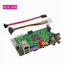 SUCAM 4 канала AHD CCTV камеры DVR Системы наблюдения Digital Video плата рекордера для 1080 P AHD TVI CVI IP Камера s