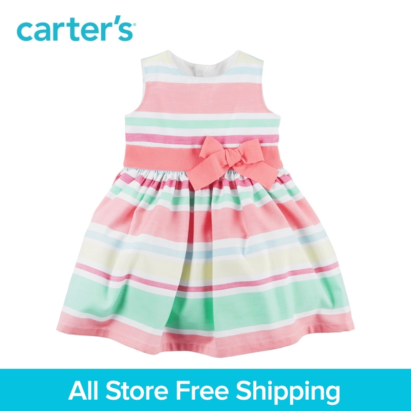 Carter's 1pcs baby children kids Striped Sateen Dress 120G135,sold by Carter's China official store mart poom minu lugu page 5