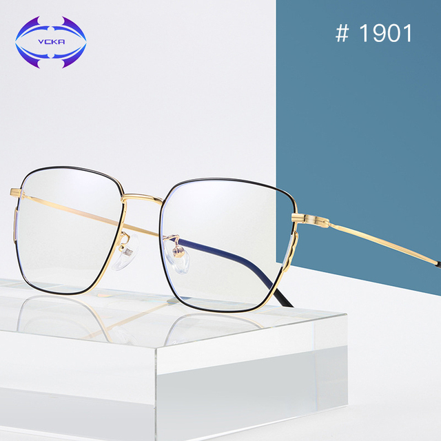 67a691188d4e VCKA Blue Light Glasses Unisex Computer Blocking Metal Frames Women Men  Ultralight Retro Optical Eyewear Kacamata Anti Radiasi