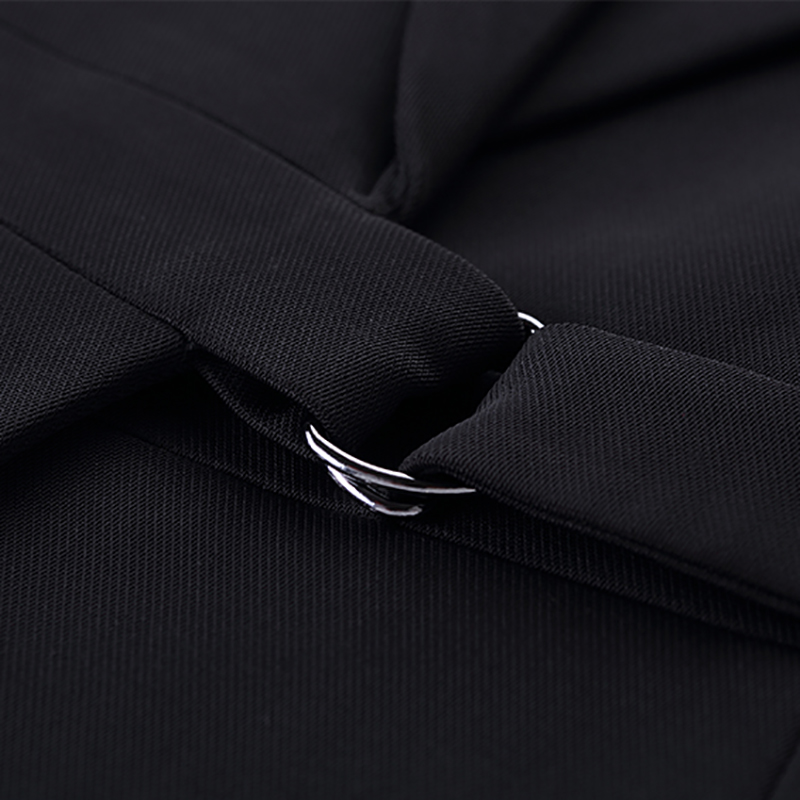 2019 Spring New 2 Piece Set Elegant Pant Suit Waistcoat Belt Sleeveless Vest+Pant For Women Office Lady Work Wear